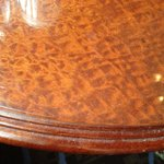 Dirt engrained table