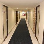 the corridor on the third floor