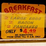 Here's the recent breakfast special