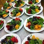Fresh fruit greens salad