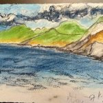 Sketch of the beach view