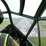 Landing at Newquay in the Rapide
