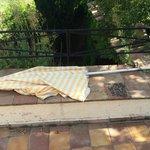 parasol, tel que trouvé à l'arrivée