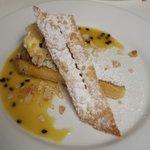 Lemon tart.  Homemade icecream