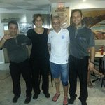 With the staff at Bar Pano. 07/06/14