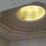 Intricately designed High Ceiling Dome in reception area