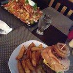 Hamburger en nacho's