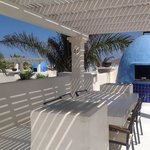 The roof terrace and BBQ