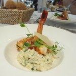 Risotto de Crevettes, Vieux Reggiano, Coriandre et Citron