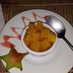 Pineapple w/ rum dessert