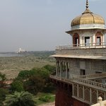View from fort to the Taj Mahal