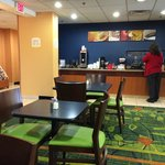 Breakfast area is well stocked and clean with friendly staff.