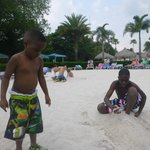 Kids playing in the sand