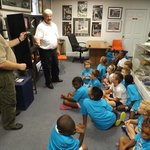Kids learning about the Apollo program