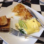 Garden omelette. Does look fancy but is really great!