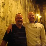 Me with Ettore - chef and co-owner of Cicirinella