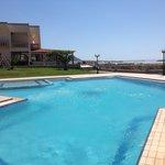 lovely pool overlooking sea