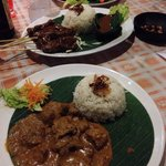 Beef Rendang, Sate Beef. Excellent taste!