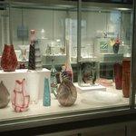 Vases on display