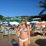 En la playa del club Villa La Plage