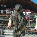 Façade des Trappeurs et son ours