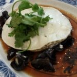 S$30 hk steamed cod fish with wood fungus