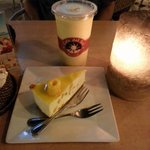Mango/Banana milkshake & Mango Cheese cake