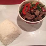 Thai sweet basil beef.