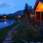 Evening of cabins