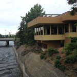 Restaurant overlooking Spokane River