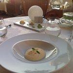 Cauliflower foam with tuna tartar and wasabi - AMAZING :)