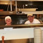 A couple of the bashful kitchen staff