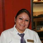 Alejandra from the wait staff in the restaurant