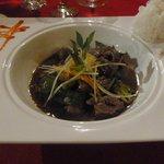Beef dish at Asian restaurant