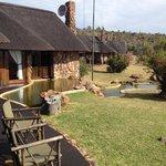 Lodges - uitzicht vanaf het terras