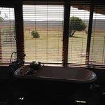 Uitzicht vanuit badkamer