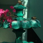 Birds taking a bath at the fountain!!!