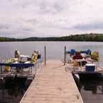 Pontoons await!  Easy access!