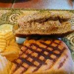 Homemade jerk chicken sausage panini. Awesome!
