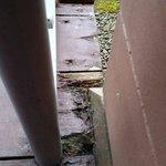 Rotting wood on balcony!