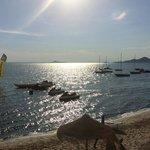 Langsam senkt sich der Tag am Mar Menor (Blich von Terrasse)