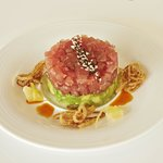 Fresh tuna tartare and avocado