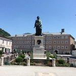 Mozart statue in Mozartplatz