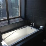 Soaking tub in suite