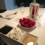 Strawberries and champagne surprise