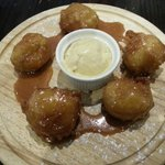 Banana Fritters with caramel and ice cream