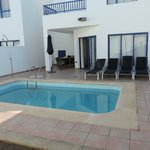 Pool area showing master bedroom balcony