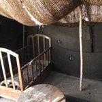 intérieur de la tente sur la terrasse