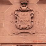 coat of arms over front entrance