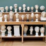 Original display of statues